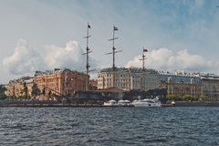 City of St. Petersburg, view from the motor ship 1131. Stock Images