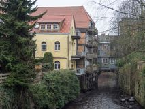 The city of Stade in Germany. The beautiful City and the old houses of Stade in Germany Royalty Free Stock Photography