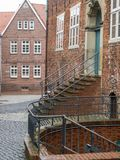 The city of Stade in Germany. The beautiful City and the old houses of Stade in Germany Royalty Free Stock Photo