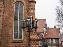 The city of Stade in Germany. The beautiful City and the old houses of Stade in Germany Stock Images