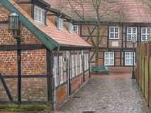 The city of Stade in Germany. The beautiful City and the old houses of Stade in Germany Royalty Free Stock Image