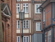 The city of Stade in Germany. The beautiful City and the old houses of Stade in Germany Stock Photos