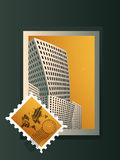 City Stamp. City into stamp Kind of Urban Art Stock Image