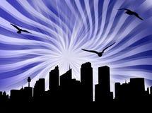 City starburst Royalty Free Stock Image