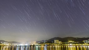 City Startrail Timelapse stock footage