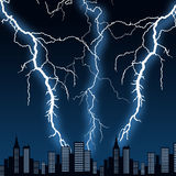City storm Stock Photo