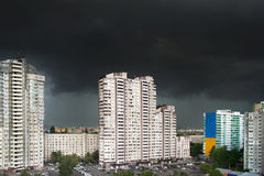 City storm Royalty Free Stock Photo