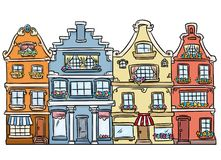 City street architecture Europe houses Stock Image