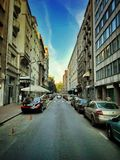 City street. On a beautiful sunny day Stock Photo