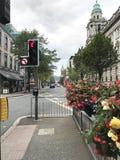 City Street in Belfast, Ireland. Northern Ireland`s capital. City royalty free stock photo