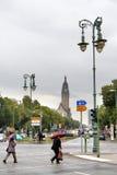 City street in Berlin Stock Photo