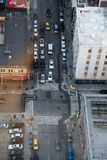 City Street from a Bird`s Eye View royalty free stock photos