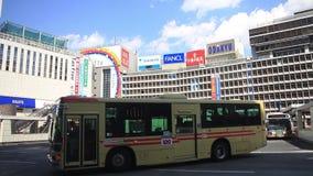 City street at the business town in Shinjuku Tokyo