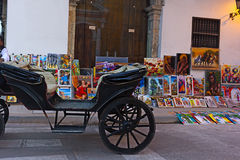 City street in Cartagena, Colombia. Stock Image