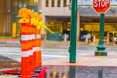 City Street Construction Stock Photo