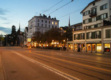 City street the evening Royalty Free Stock Photography