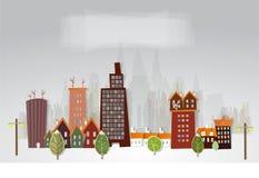 City street illustration Royalty Free Stock Image