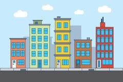 City street illustration Royalty Free Stock Photography