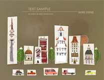 City street illustration, paper background Royalty Free Stock Photography