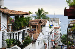 City Street In Puerto Vallarta, Mexico Stock Photos