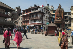 City Street - Kathmandu - Nepal Royalty Free Stock Photography