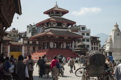 City Street - Kathmandu - Nepal Royalty Free Stock Image