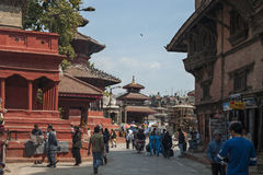 City Street - Kathmandu - Nepal Royalty Free Stock Images