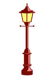 City street lantern isolated illustration Royalty Free Stock Photography