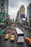 City and street life in Bangkok Thailand. Images for Bangkok Thailand busy city street life Stock Image