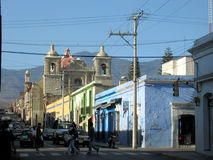 City street life - Oaxaca - Mexico Royalty Free Stock Image