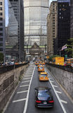 City street life on Park Avenue Royalty Free Stock Image