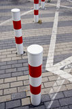 City street lines and bollards Royalty Free Stock Photos