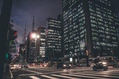 City Street At night Stock Photos