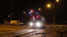 City Street Night Traffic stock footage