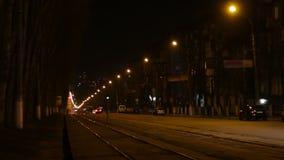 City Street Night Traffic stock video