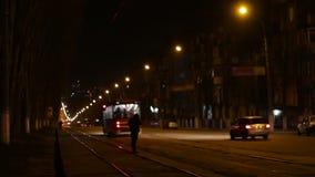 City Street Night Traffic stock video footage
