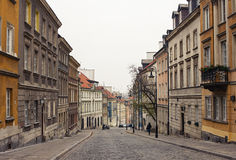 City street. Old city street with beautiful buildings Stock Photography