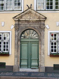City street - old town in Riga stock photography