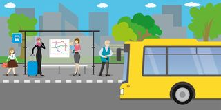 City street and road with transport royalty free illustration
