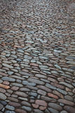 City street from a rough stone. City street paved with a coarse stone Stock Photo