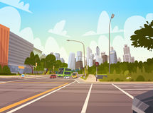 City Street Skyscraper Buildings Road View Modern Cityscape Singapore Downtown Royalty Free Stock Image