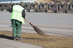 City street sweeping Stock Photos