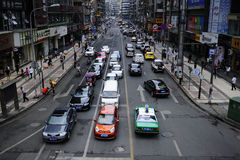 City street Traffic. Traffic in busy city street at peak hour,at guiyang city china Stock Image