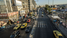 City street. With traffic in Hellas Royalty Free Stock Images