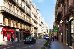 City street   in Valencia, Spain Stock Photo