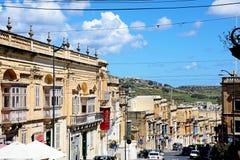 City Street, Victoria, Gozo. Stock Image