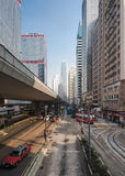 City street view in Hong Kong Stock Image