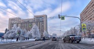 City street in winter Stock Photos