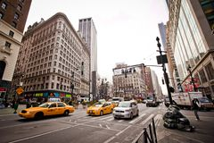 City streetlife on 6th Avenue in New York Royalty Free Stock Image