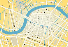 City streetmap Stock Photography